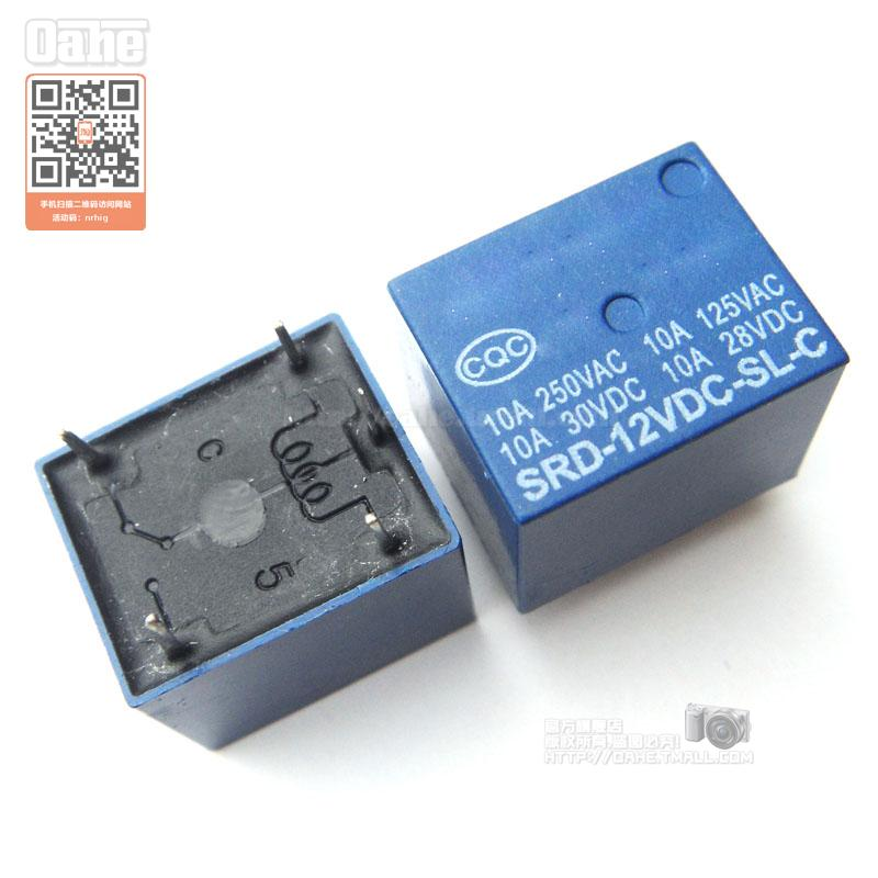 Get Quotations · Oahe | srd-12vdc-sl-c relay 12 v 10a high current
