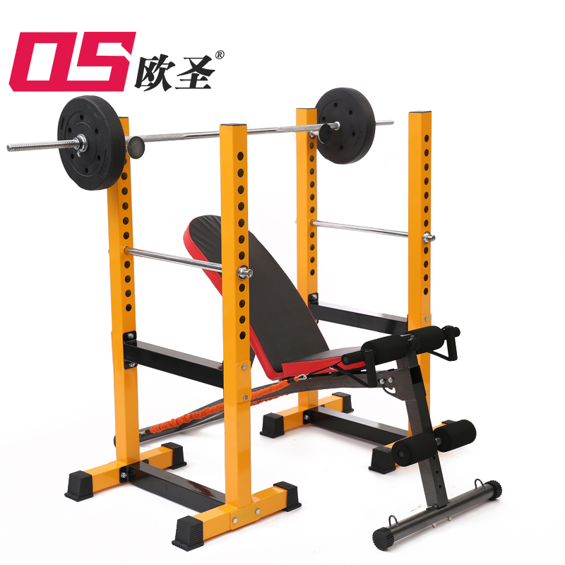 Oceanus multifunctional professional split half frame security weightlifting bed bench press rack barbell squat rack suits fitness