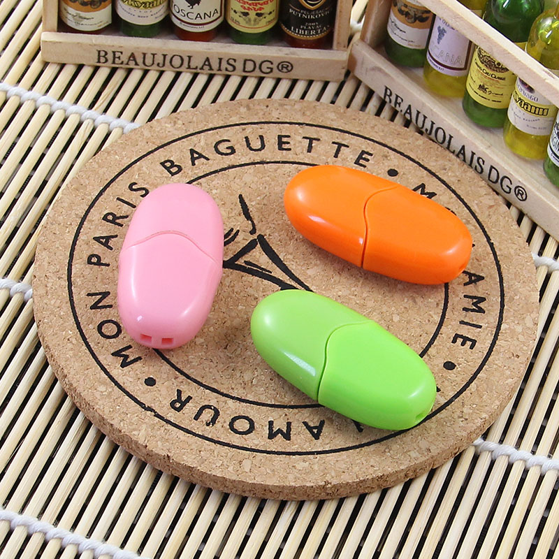 Octavia 4 gb brand u disk authentic free shipping mini magic beans cartoon u disk usb send beautiful ornaments peas