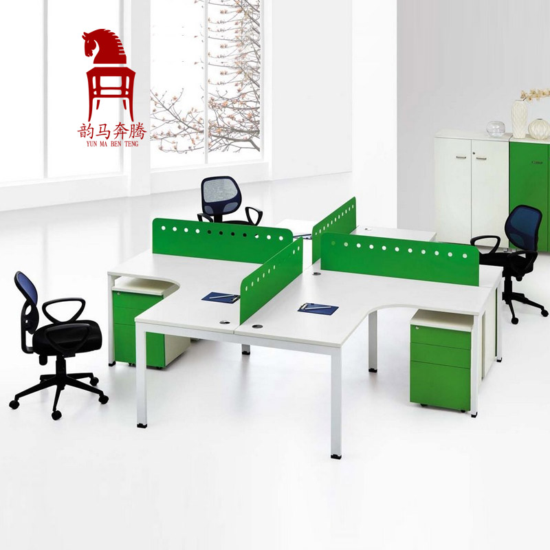 Office furniture desk staff desk 4 four bits desk staff screen work spaces simple fashion special offer free shipping