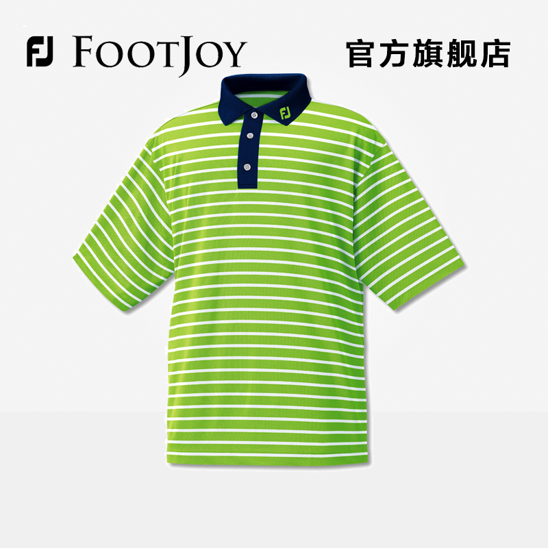 Official fj footjoy men's golf golf golf t-shirt wicking t-shirt [special] big yards