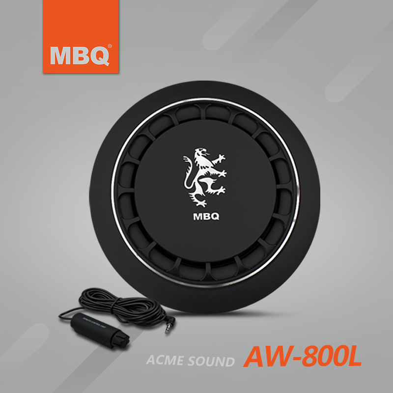 Official genuine mbq car car subwoofer slim pure bass subwoofer aw-800l portable bacun