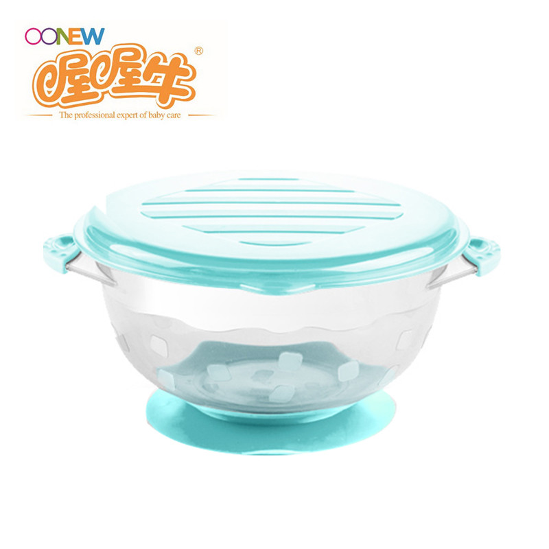 Oh baby cow baby food supplement bowl bowl sucker training bowl bowl children's tableware TB-1692 (single)