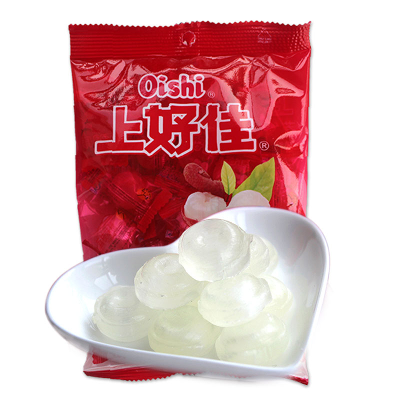 Oishi lychee flavored hard candy wedding candy fruit sugar 120g stocking candy snack food gifts