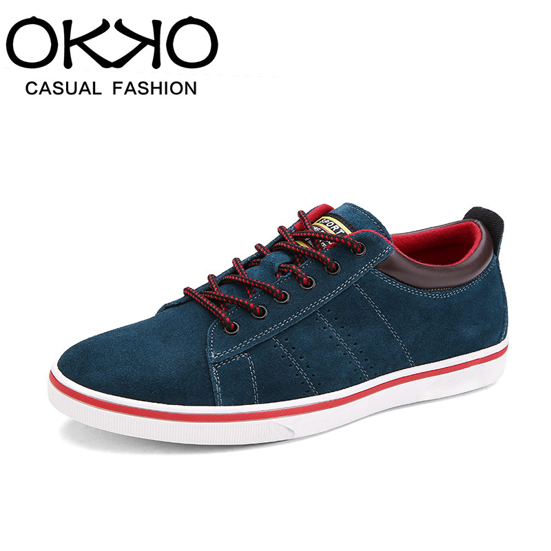Okko summer season men's casual shoes leather shoes fashion shoes tide lace shoes british style trend of men's shoes