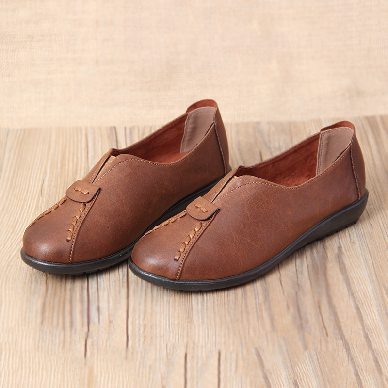 Old beijing shoes shoes 2016 new shoes flat shoes set foot glossy shirr china wind family retro mom shoes