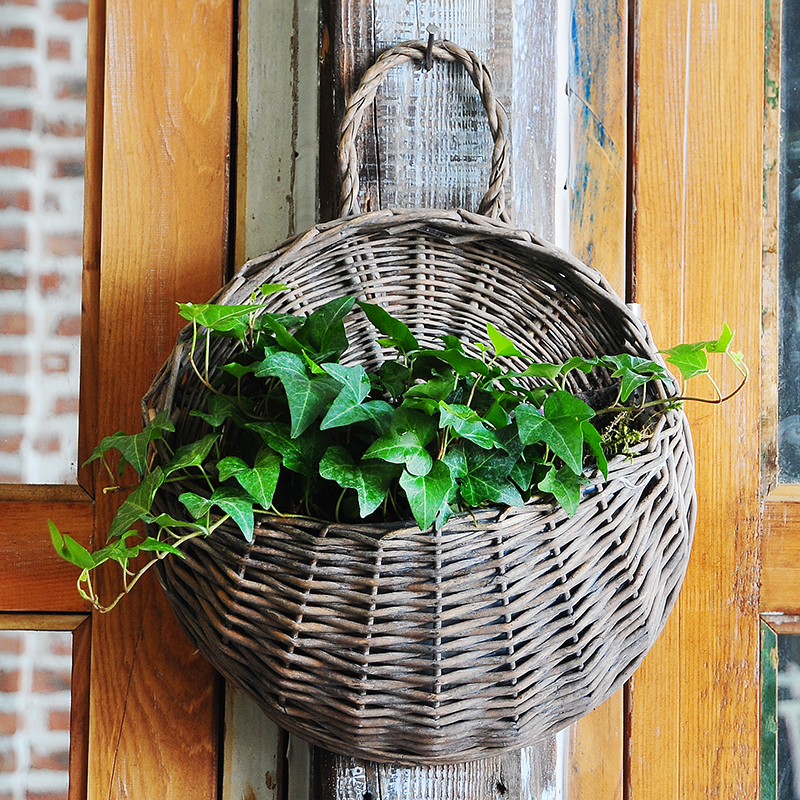 Olvy european decorative wall hanging pots pots creative personality spider flower baskets rattan wicker succulents small pots