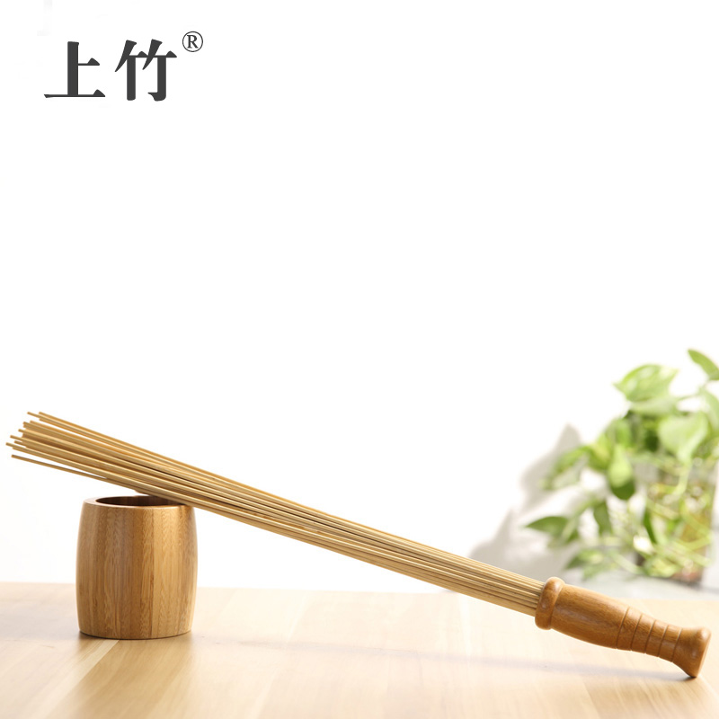 On bamboo large pat pat pat stick fitness shoot meridian promoting blood circulation massage hammer beating hammer beat beat stick stick tasteless Deburr