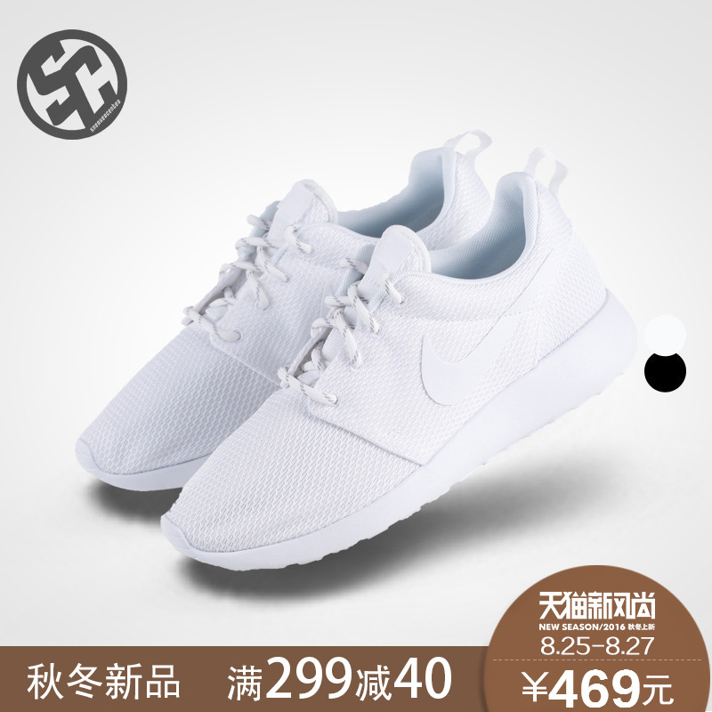 Get Quotations · One black and white oreo black casual running shoes nike  roshe run 511882-094  40318c4f1315