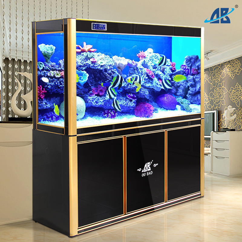Opel jinlong home aquarium fish tank at the end of large and medium-sized filtrating glass screens ecological 1. 8 m landscaping Decoration