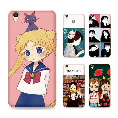 Oppor9 r9plus sets of silicone soft shell phone shell mobile phone shell female models embossed matte japan and south korea creative cute cartoon popular brands
