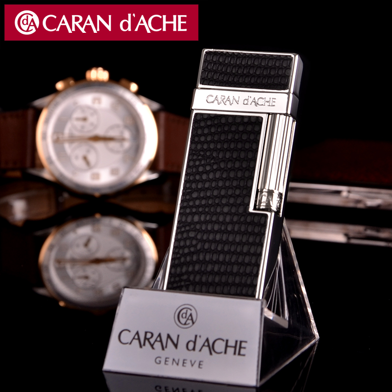 Original authentic caran d 'ache cellan CD30-3004 emperor black flint lighter inflatable
