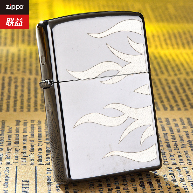 Original authentic genuine zippo lighter limited thin black hyun double flame 24951
