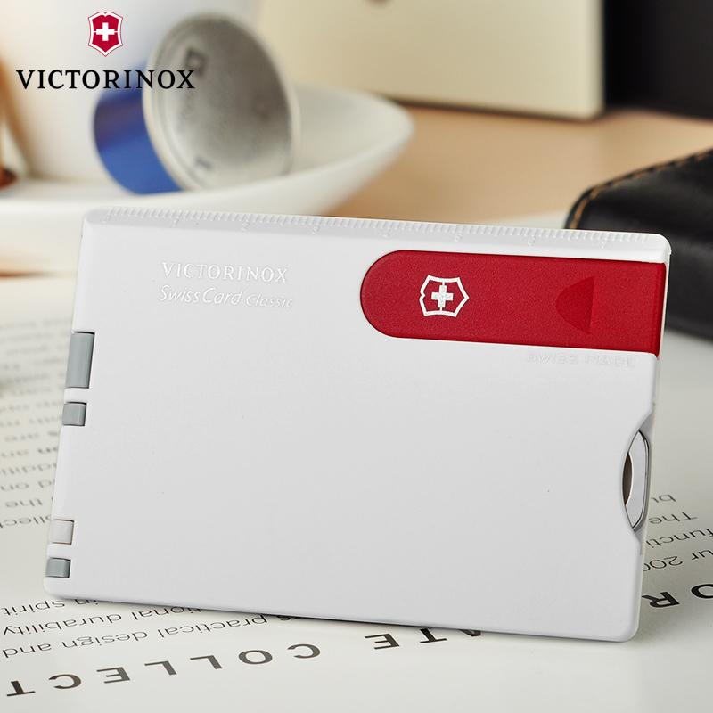 Original genuine swiss army knife victorinox knife card 0.7107 (white card red knife) multifunction card knife swiss army knife