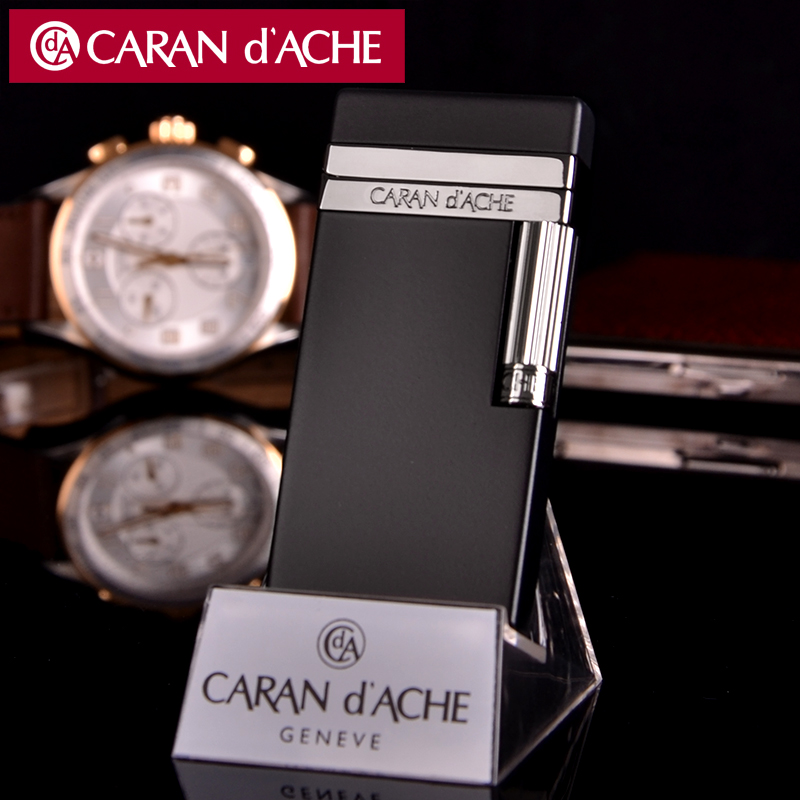 Original genuine swiss caran d 'ache cellan CD40-4001 genuine black emperor flint lighter inflatable