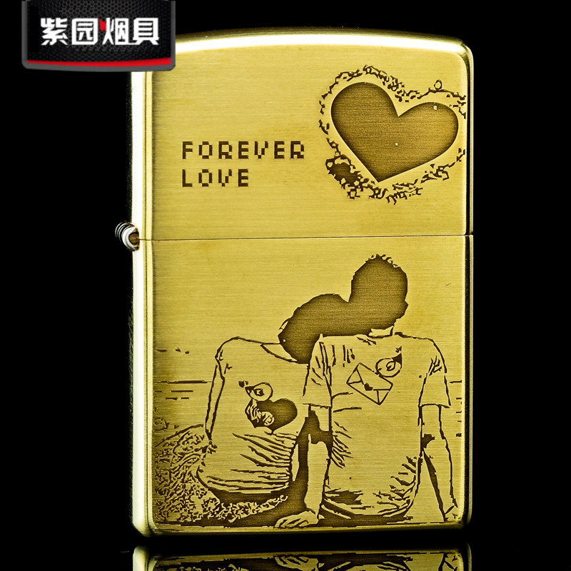 Original genuine zippo lighter copper gold tyrant everlasting love counter genuine zippo limited