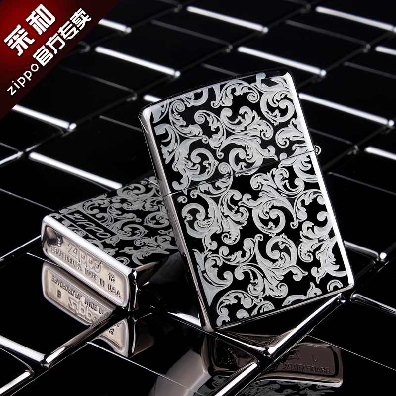 Original genuine zippo limited edition genuine flagship store lettering zppo genuine zippo lighter pure copper kerosene black ice 150