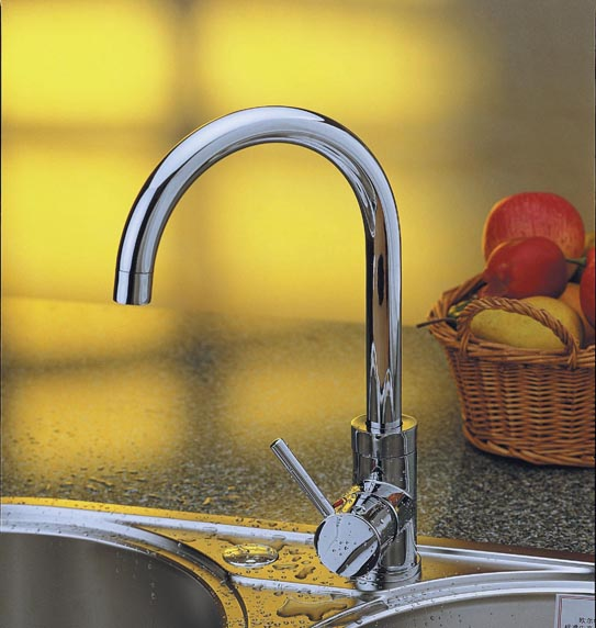 Ou erte ouert hot and cold all copper kitchen faucet can be rotated vegetables basin sink faucet high throw 002