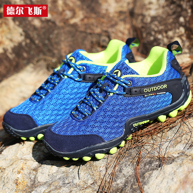 Outdoor hiking shoes breathable mesh slip hiking shoes outdoor shoes hiking boots for men and women riding hiking trail runners