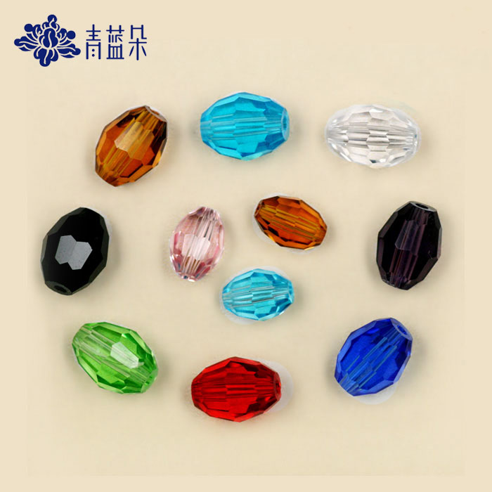 Oval crystal facets beads beaded material diy loose beads bead 8*11/6*8mm 10/pack