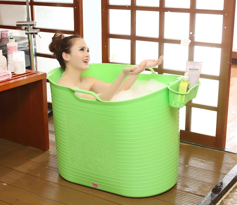 Oversized bath缸桶adult plastic tub bath bucket bath bucket bath barrel thicker insulation