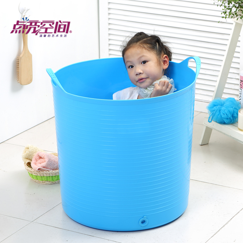 Oversized children's bath barrel plastic bucket bath tub baby bath tub baby bath barrel bathtub