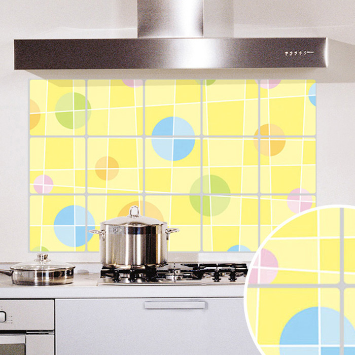 Oxfam america removable wall stickers/kitchen oil stickers graphics/wallpaper painting decal stickers wall stickers high temperature aluminum foil