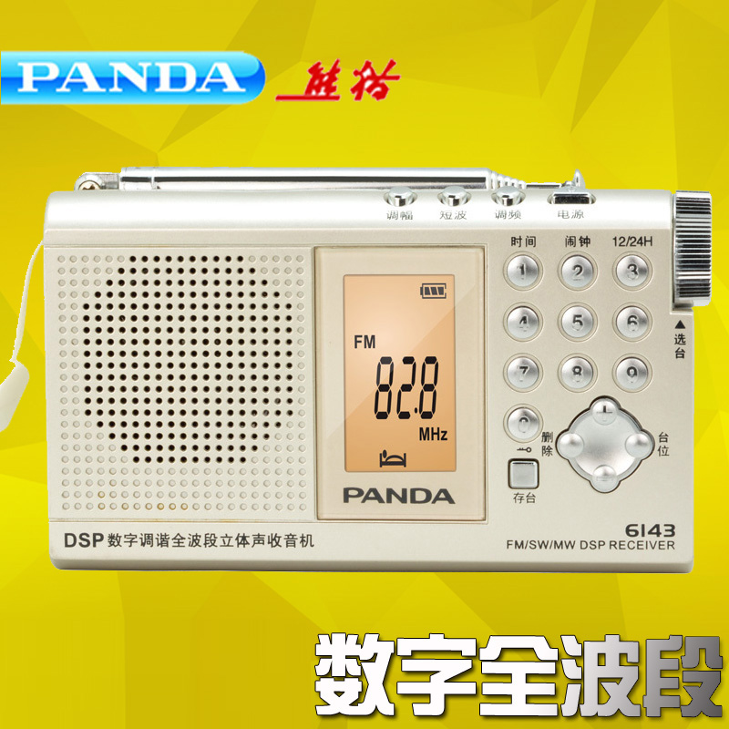 Panda/panda 6143 portable stereo radio dsp full band digital tuner dad semiconductor