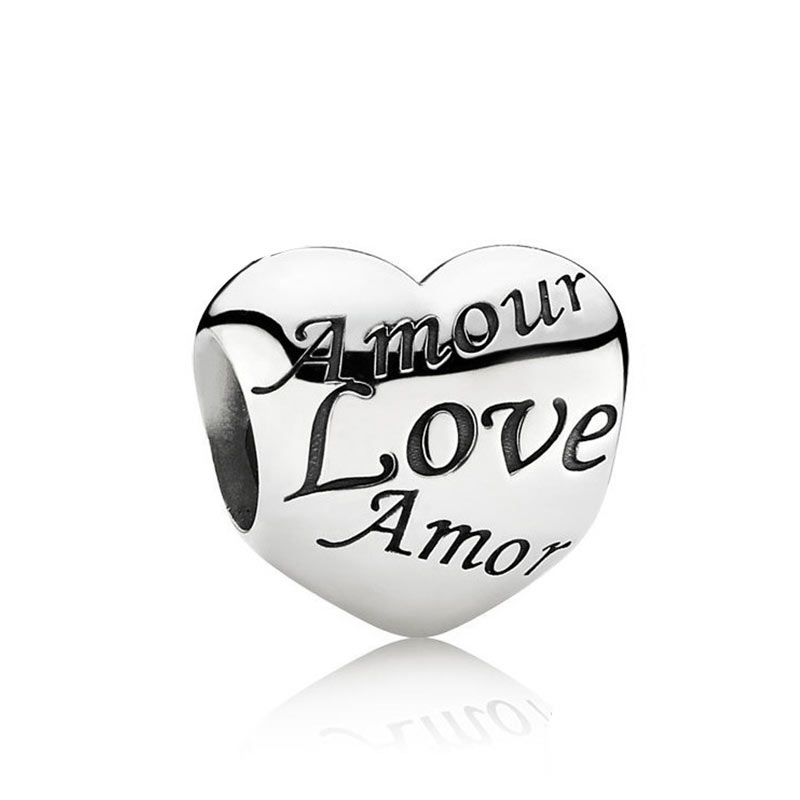 Pandora pandora bracelet female 925 sterling silver love language of love diy beaded beads 791111