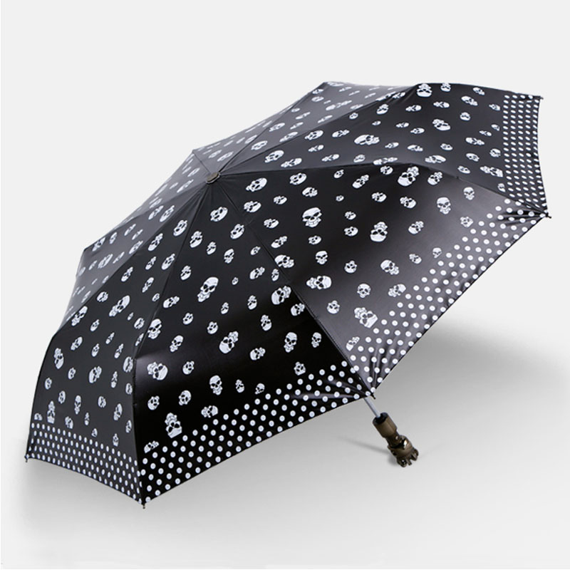 Paradise genuine monopoly umbrella black umbrella black knight full auto moving folding umbrella vinyl super sunscreen