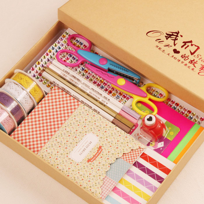 Paste style lovers album album diy accessories package korea creative handmade baby suit material