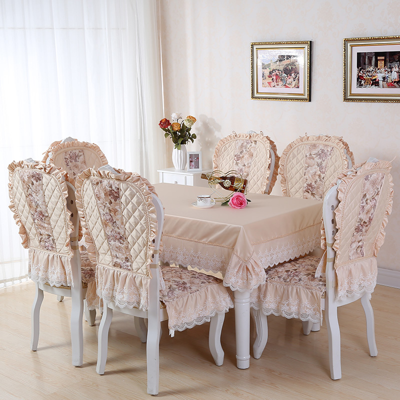 Pastoral fabric table cloth table cloth dining chair cushion cover sets lace tablecloth chair cushion coffee table tablecloth suit