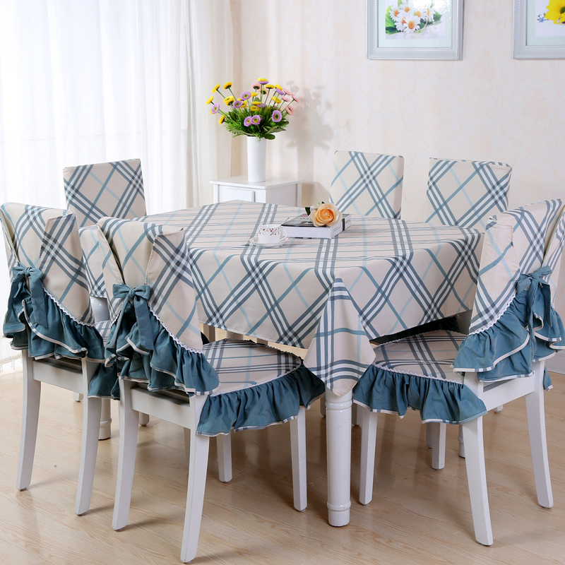 Pastoral plaid tablecloth table cloth chair cover coffee table cloth tablecloth dining chair cushion cover cotton cloth dining chair cushion