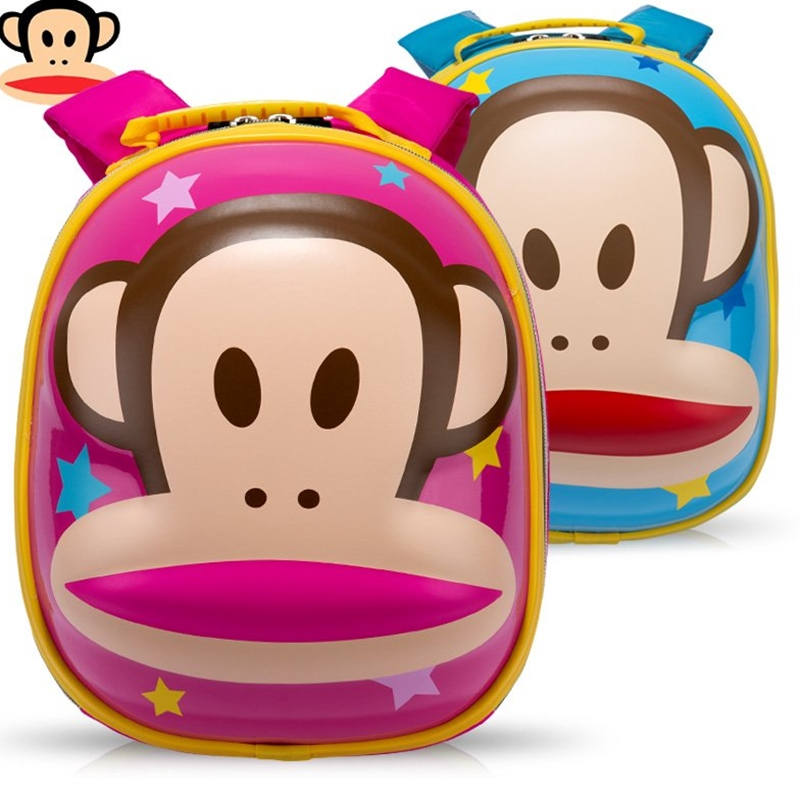 Paul frank monkey mouth double shoulder bag backpack children kindergarten children schoolbag bag boys and girls cartoon tide