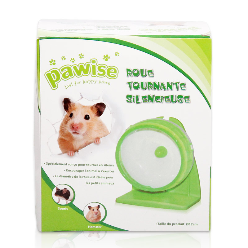 â®Pawise trumpet 12cm small dwarf hamster hamster hamster supplies hamster running wheel mute wire cage with a bracket available