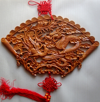 Peach decorated home mahogany wood carving the word blessing ornaments home decorations ornaments riin wealth peace