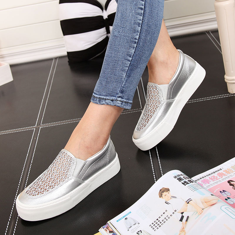 People canvas shoes women shoes 2016 summer new hollow breathable casual shoes thick crust muffin korean shoes shoes
