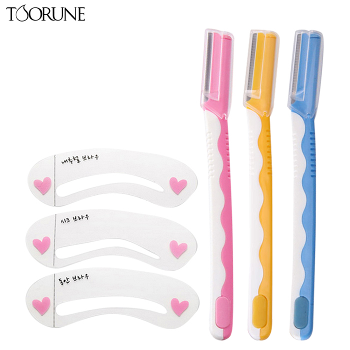 Peptide run toorune miaomei template tool kit eyebrow aids thrush card word eyebrow eyebrow eyebrow knife