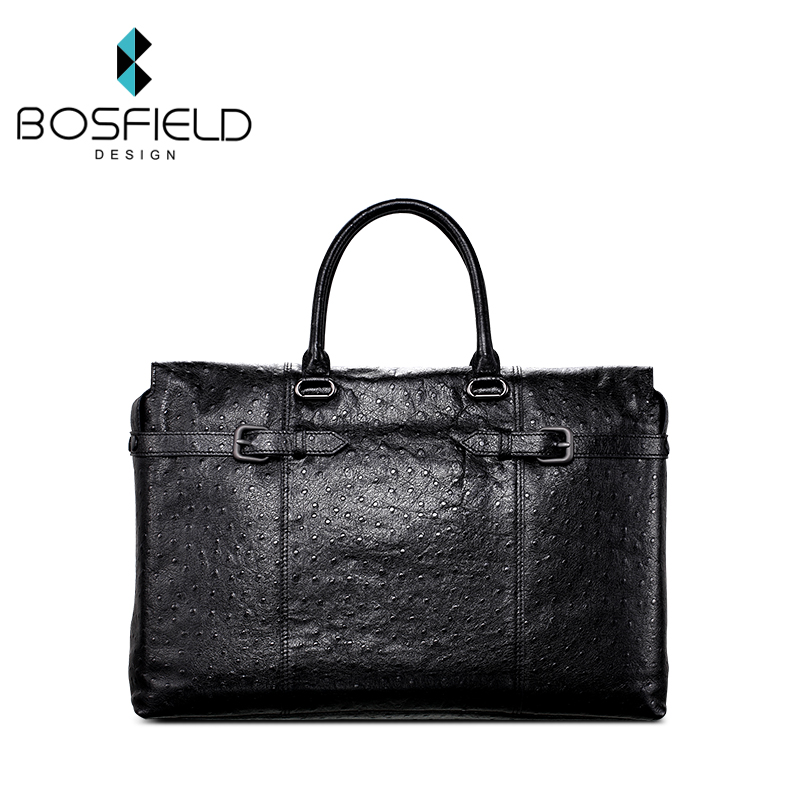Persian rafael ostrich grain leather men's leather bag man bag for business travel bag large capacity soft leather