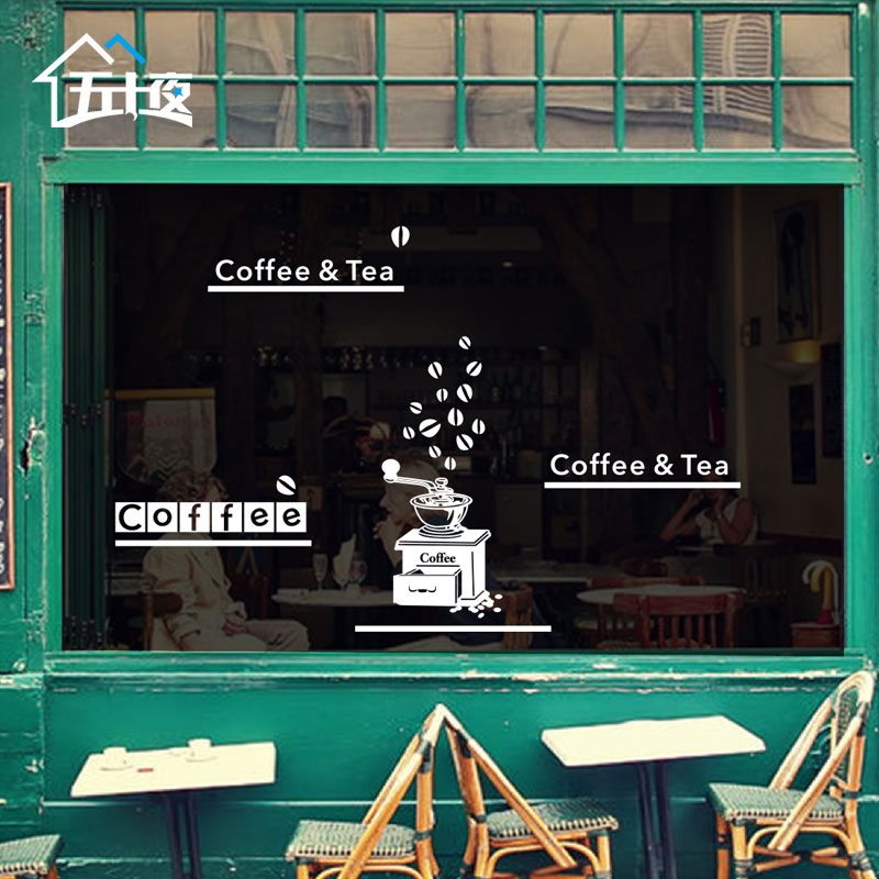 Personalized restaurant coffee shop glass window stickers decorative wall stickers wall sticker wall stickers modern minimalist entrance
