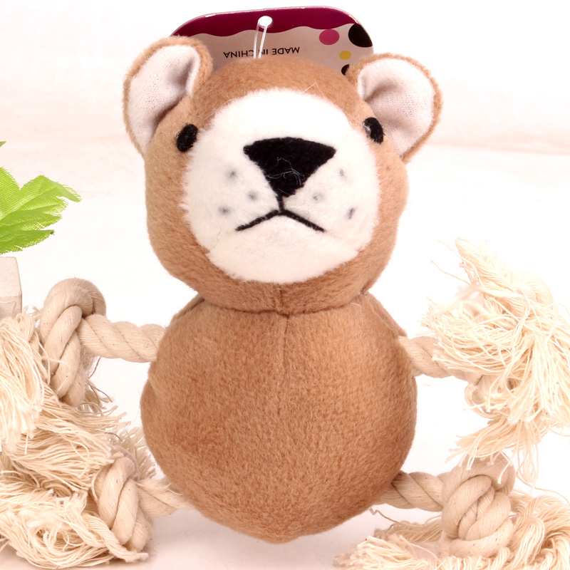 Pet plush toys sound toys toy dogs and cats cute dog teddy pet supplies