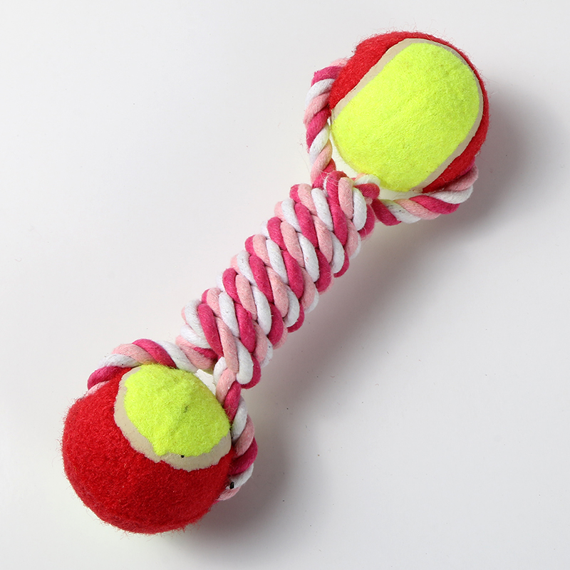Pet supplies bite resistant nep tennis withstand interactive toys cotton rope ball dog toys molar tooth care