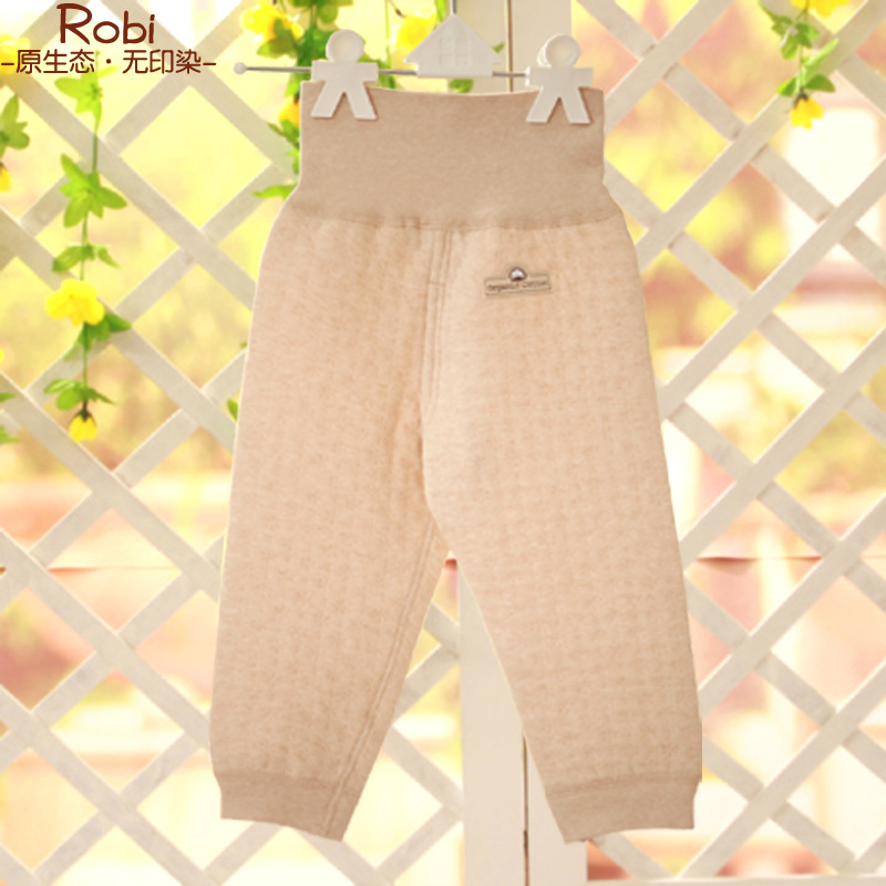 Peter rabbit los natural colored cotton newborn baby care belly waist pants spring new cotton baby leggings