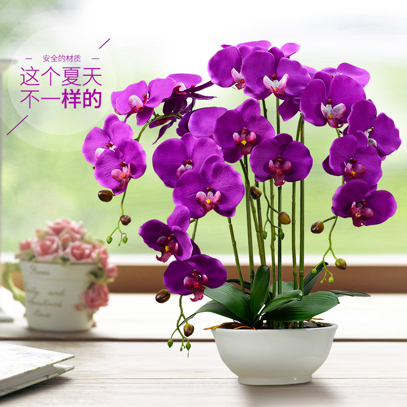 Phalaenopsis artificial flowers artificial flowers artificial flowers potted phalaenopsis artificial flowers suit the living room decorative floral ornaments