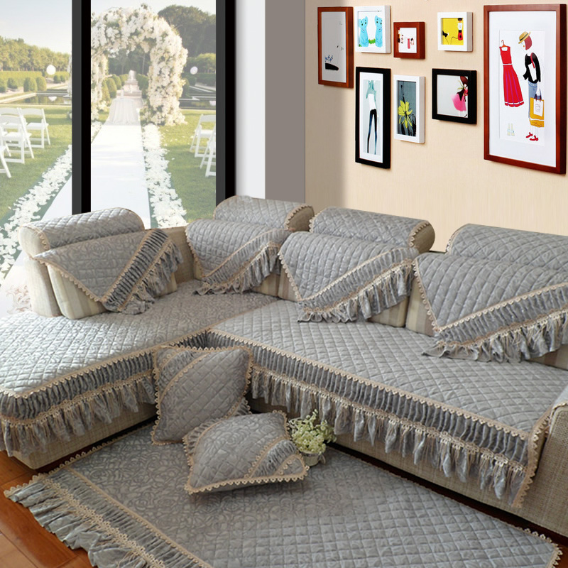 Get Quotations · Philippine language unadorned matter continental plush sofa cushion slip lace fabric sofa slipcover sofa cover custom