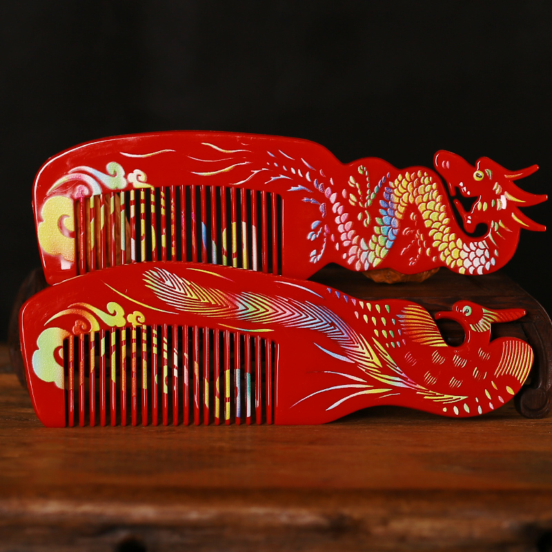 Philippines to find the bride wedding dowry essential mirror comb suit chinese style big red dragon and phoenix wedding supplies