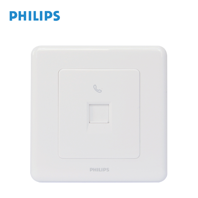 Philips switch socket panel org white one phone jack 86 single telephone wall socket panel
