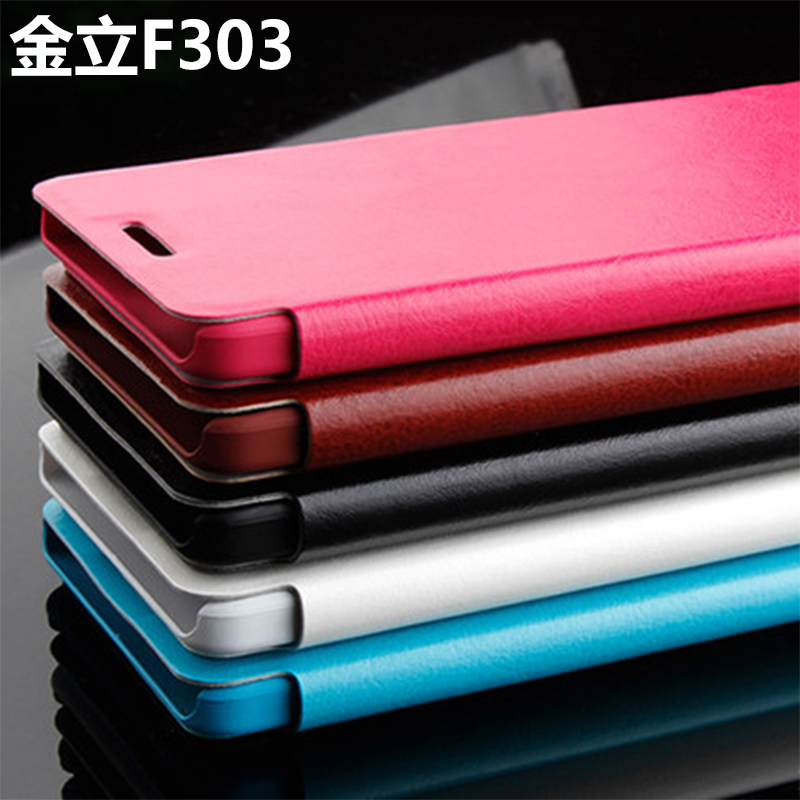 Phone shell protective sleeve gionee gionee f303 f303 leather sleeve tide slim clamshell mobile phone sets shell gionee f303