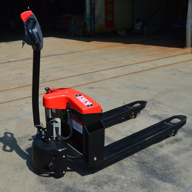 Photosynthetic 1.5 tons walk full electric pallet truck trailer electric bottle electric forklift pallet truck to cattle