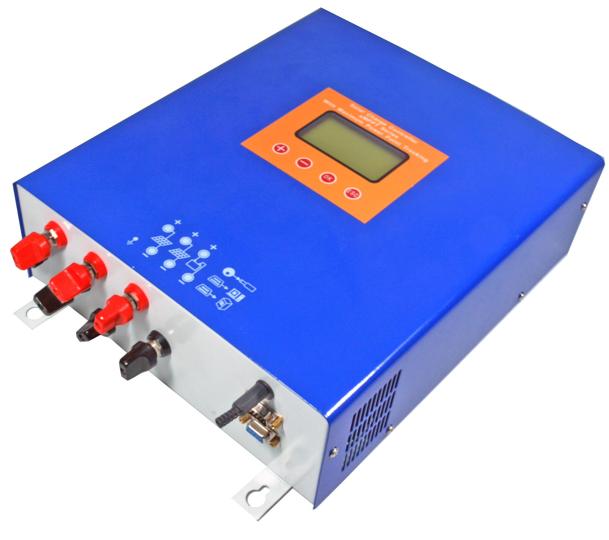 Photosynthetic mppt solar controller/power tracking controller 48v60a lcd display